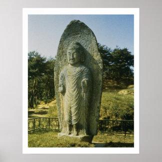 Standing Buddha at Ch'olch'on-ni, Naju, 10th centu Print