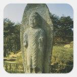 Standing Buddha at Ch'olch'on-ni, Naju, 10th centu Square Sticker