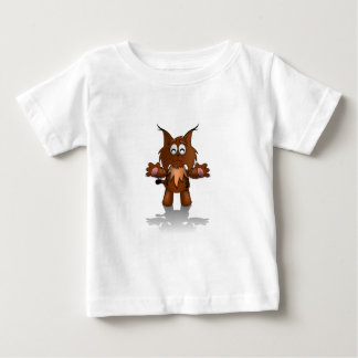Standing Cartoon Lynx with Outstretched Arms Baby T-Shirt