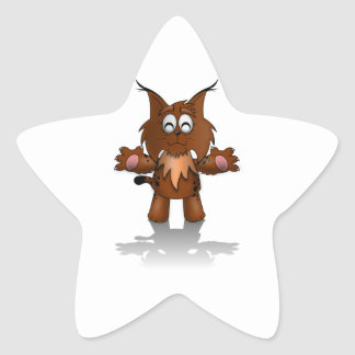 Standing Cartoon Lynx with Outstretched Arms Stickers