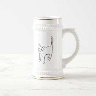 Standing Cat Beer Stein