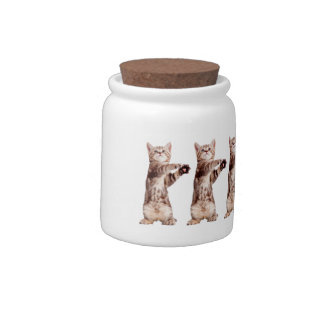 Standing cat - kitty - pet - feline - pet cat candy dishes