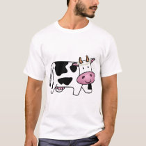 Standing Cow with Daisies T-Shirt