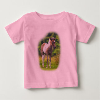 Standing Dartmoor Pony Foal infant tshirt