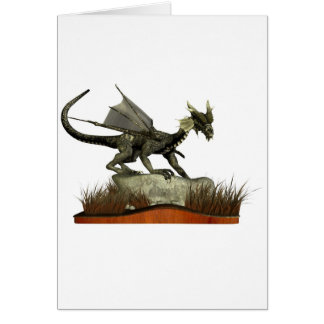 Standing Dragon on a Rock Cards