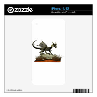 Standing Dragon on a Rock iPhone 4 Skin
