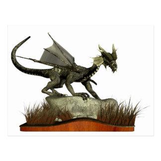 Standing Dragon on a Rock Postcard