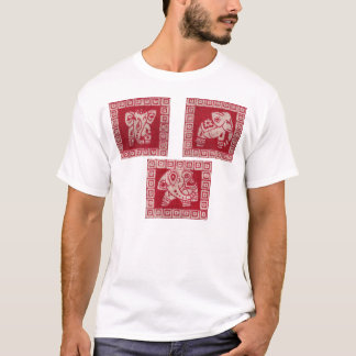 Standing elephant in block prints T-Shirt