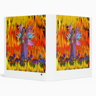 Standing Fairy in a field of flames with flowers Vinyl Binders