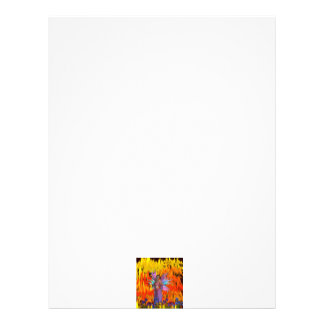 Standing Fairy in a field of flames with flowers Customized Letterhead