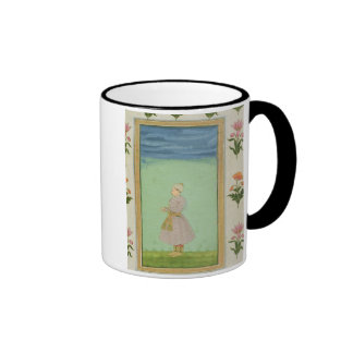 Standing figure of a boy with a jewelled dagger in ringer coffee mug