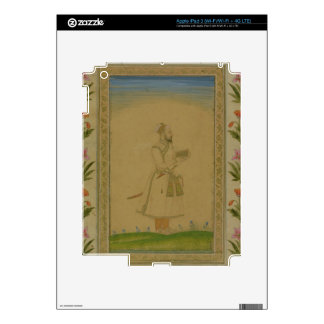 Standing figure of a nobleman, holding a book, fro iPad 3 decal