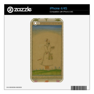Standing figure of a nobleman, holding a book, fro iPhone 4 skins