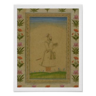 Standing figure of a nobleman, holding a book, fro posters