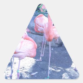 Standing Flamingo Triangle Sticker