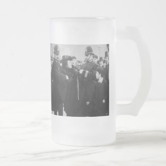 Standing for our rights! 16 oz frosted glass beer mug