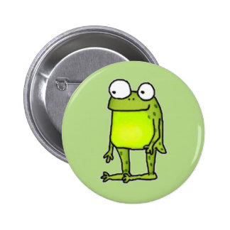 Standing Frog Pinback Button