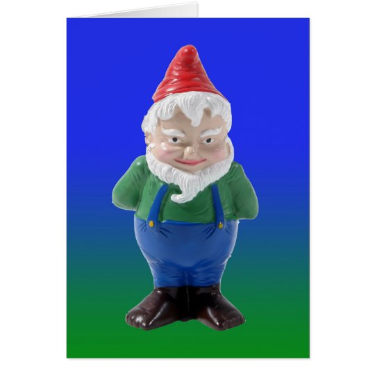 Standing Gnome Card