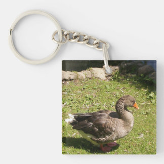 Standing Goose Acrylic Keychains