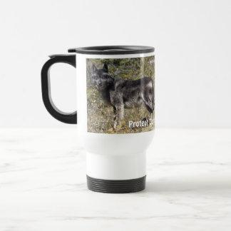 Standing Grey Wolf Wildlife Lover Drinking Mug