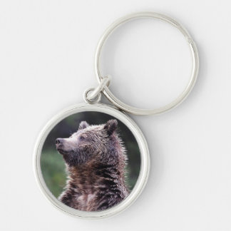 Standing Grizzly Bear Keychain
