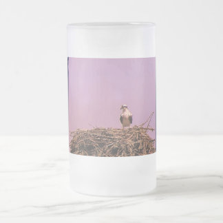 Standing Guard Frosted Glass Beer Mug