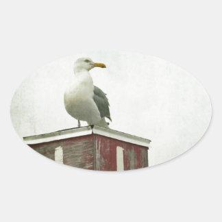 Standing Guard Oval Sticker