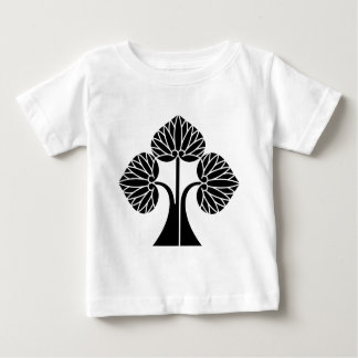 Standing hollyhocks divided into right baby T-Shirt