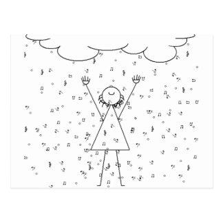 Standing in the Raining Music Postcard