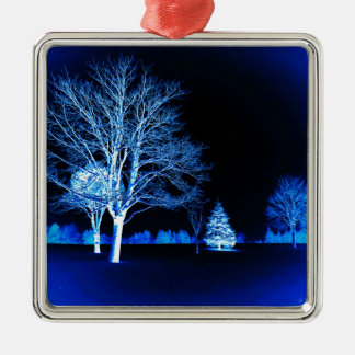 Standing In The Snow Christmas Tree Ornament