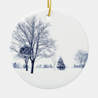 Standing In The Snow Christmas Ornament
