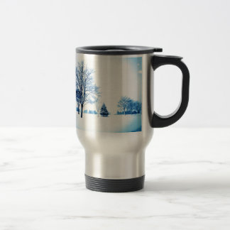 Standing In The Snow Travel Mug