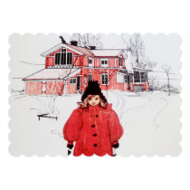 Standing in the Winter Snow Card