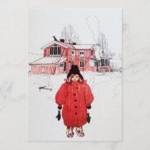 Standing in Winter Snow