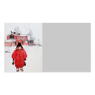 Standing in Winter Snow Business Card Templates