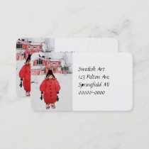 Standing in Winter Snow Business Card