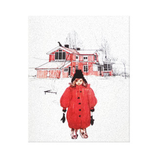 Standing in Winter Snow Gallery Wrap Canvas