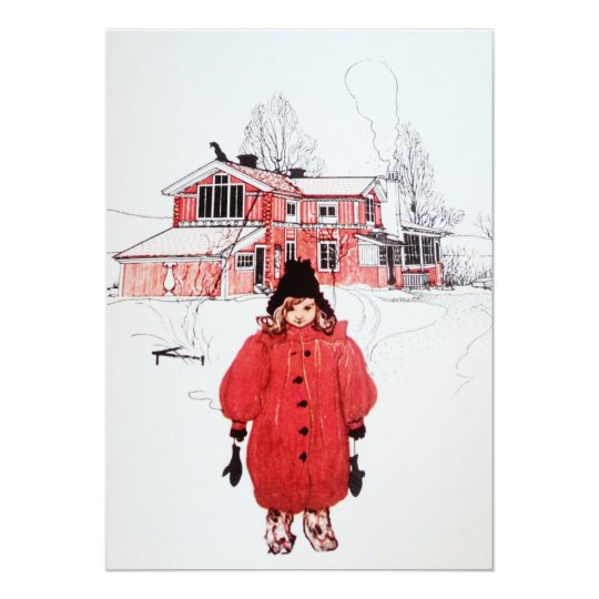 Standing in Winter Snow Card