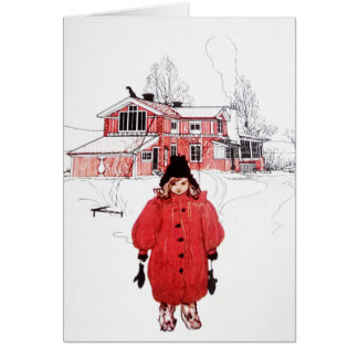 Standing in Winter Snow Greeting Card