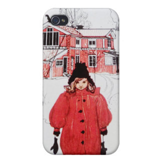 Standing in Winter Snow iPhone 4 Covers