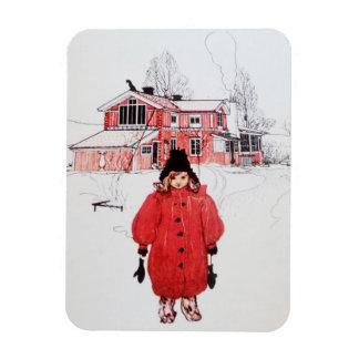 Standing in Winter Snow Magnet