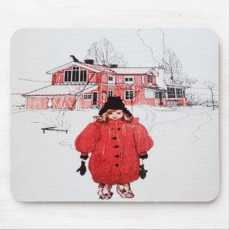 Standing in Winter Snow Mousepad
