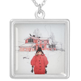 Standing in Winter Snow Pendants