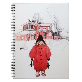 Standing in Winter Snow Note Book