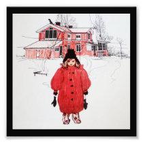 Standing in Winter Snow Photo Print