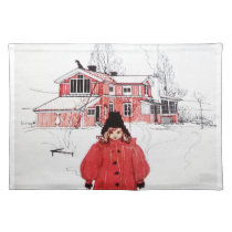 Standing in Winter Snow Placemat