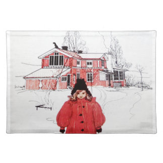 Standing in Winter Snow Placemats