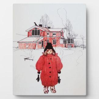Standing in Winter Snow Plaque