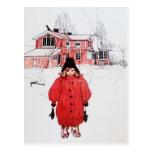 Standing in Winter Snow Postcard