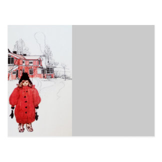 Standing in Winter Snow Postcard
